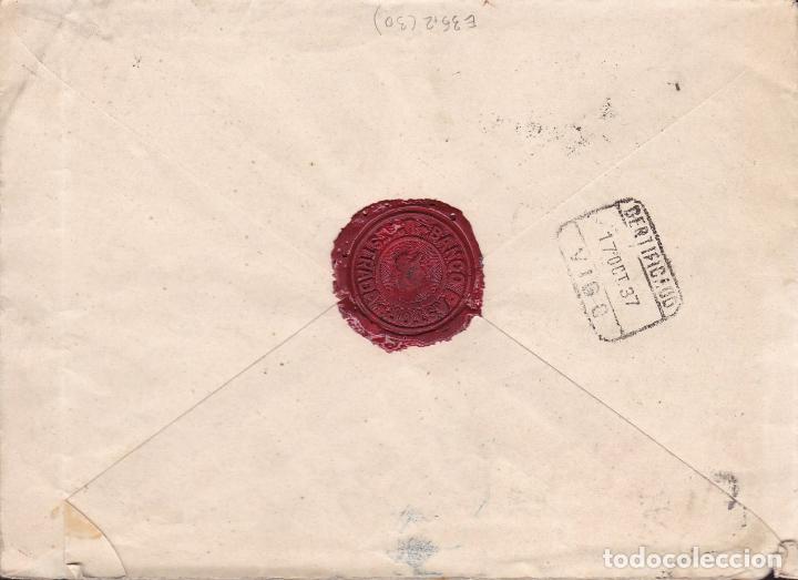 Sellos: HP9-23- Guerra Civil. Certifº LA ESTRADA (Pontevedra) 1937. Censura y Auxilio Invierno.Bonito Lacre - Foto 2 - 168207208