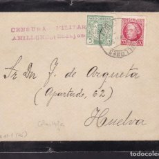 Sellos: CM2-47- GUERRA CIVIL. FRONTAL LUTO AHILLONES (BADAJOZ)1937. CENSURA Y LOCAL. Lote 168214564