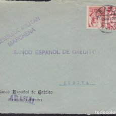 Sellos: CM2-47- GUERRA CIVIL. FRONTAL ARAHAL (SEVILLA) 1937. CENSURA MARCHENA Y LOCAL. Lote 168214824