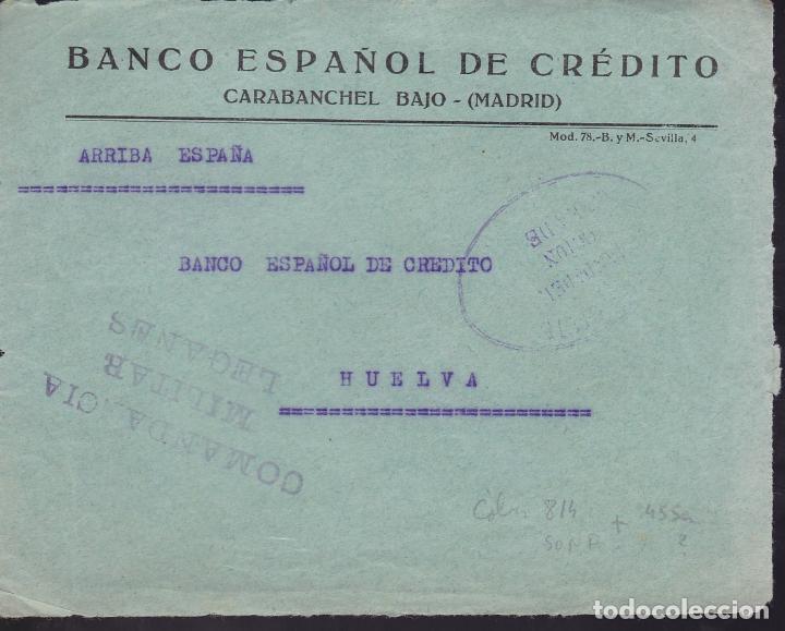 CM2-48- GUERRA CIVIL. FRONTAL CARABANCHEL BAJO. CENSURAS GUARDIA CIVIL Y COMANDANCIA MILTAR LEGANES (Sellos - España - Guerra Civil - De 1.936 a 1.939 - Cartas)