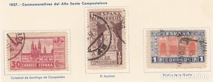 ESPAÑA. 3 SELLOS DE 1937. USADOS CON FIJASELLOS. (Sellos - España - Guerra Civil - De 1.936 a 1.939 - Usados)