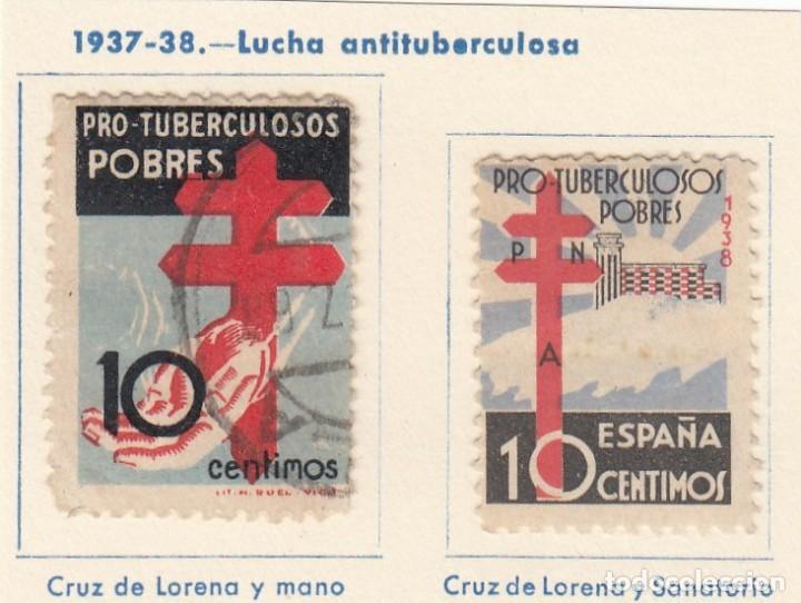 ESPAÑA. 2 SELLOS DE 1937-38. USADOS CON FIJASELLOS. (Sellos - España - Guerra Civil - De 1.936 a 1.939 - Usados)