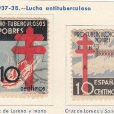 Sellos: ESPAÑA. 2 SELLOS DE 1937-38. USADOS CON FIJASELLOS.. Lote 168221816