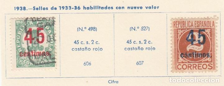 ESPAÑA. 2 SELLOS DE 1938. USADOS CON FIJASELLOS. (Sellos - España - Guerra Civil - De 1.936 a 1.939 - Usados)