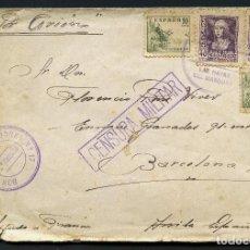 Sellos: GUERRA CIVIL POST, SOBRE, BATALLÓN DE TRABAJADORES Nº 17, ÁVILA. Lote 168256216