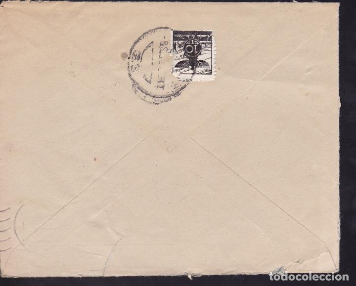 Sellos: CM2-55- Guerra Civil. Carta ORENSE 1938. Auxilio Invierno y Censura - Foto 2 - 168270724