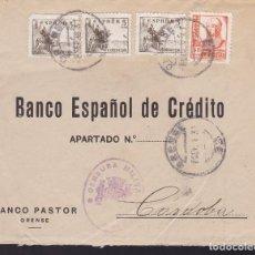 Sellos: CM2-55- GUERRA CIVIL. CARTA ORENSE 1938. AUXILIO INVIERNO Y CENSURA . Lote 168270724