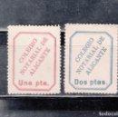 Sellos: COLEGIO NOTARIAL DE ALICANTE. 2 SELLOS DE 1 Y 2 PTAS. Lote 168270744