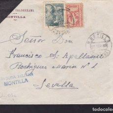 Sellos: CM2-55- GUERRA CIVIL. CARTA MONTILLA (CÓRDOBA) 1939. LOCAL Y CENSURA. Lote 168270788