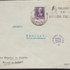 Sellos: CM2-56- GUERRA CIVIL. CARTA MORON DE LA FRONTERA (SEVILLA) 1939. LOCAL VARIEDAD Y CENSURA . Lote 168270896
