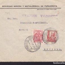 Sellos: CM2-57- GUERRA CIVIL. CARTA PUEBLONUEVO DEL TERRIBLE (CÓRDOBA) 1937. LOCAL Y CENSURA . Lote 168271152