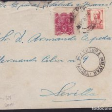 Timbres: CM2-60- GUERRA CIVIL. CARTA GRANADA 1937.LOCAL Y CENSURA . Lote 168271432