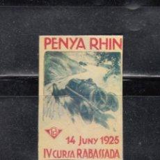 Sellos: PENYA RHIN. IV CURSA RABASSADA. Lote 168507748