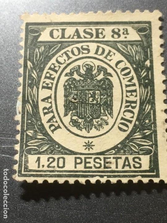 CLASE 8ª PARA EFECTO DE COMERCIO 1,20 PESETAS EN NUEVO (Sellos - España - Guerra Civil - Locales - Nuevos)