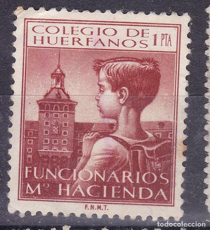 BB6- PARAFISCALES COLEGIO HUÉRFANOS FUNCIONARIOS DE HACIENDA 1 PTA (*) SIN GOMA (Sellos - España - Guerra Civil - Viñetas - Nuevos)