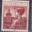 Sellos: BB6- PARAFISCALES COLEGIO HUÉRFANOS FUNCIONARIOS DE HACIENDA 1 PTA (*) SIN GOMA. Lote 168585280