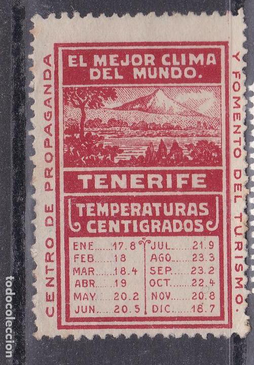 BB9-VIÑETA FOMENTO TURISMO TENERIFE (*) SIN GOMA (Sellos - España - Guerra Civil - Viñetas - Nuevos)