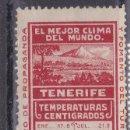 Sellos: BB9-VIÑETA FOMENTO TURISMO TENERIFE (*) SIN GOMA. Lote 168596604