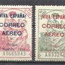 Sellos: 703- MNH** SERIE COMPLETA ESPAÑA 1937 ,YVERT 75,00€. LOCALES BURGOS AEREOS Nº162,162A,162B,163.OTROS. Lote 168675720