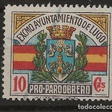 Sellos: R61/ ESPAÑA, LUGO, VIÑETA EN USADO. Lote 168727176