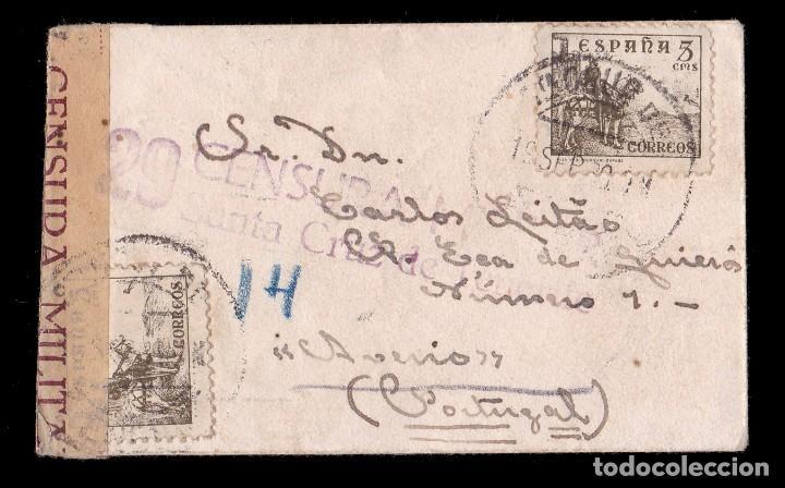 * CARTA VISTABELLA (TENERIFE)-AVEIRO (PORTUGAL) 1939. CENSURA 29 SANTA CRUZ DE TENERIFE (NO CAT) * (Sellos - España - Guerra Civil - De 1.936 a 1.939 - Cartas)