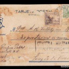 Sellos: *** TARJETA ASTORGA-JEREZ DE LA FRONTERA 1939. CENSURA MILITAR ASTORGA (NEGRO) ***. Lote 168995704