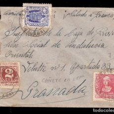 Sellos: *** CARTA CAÑETE LA REAL-GRANADA 1938. CENSURA MILITAR CAMPILLOS + LOCAL CAÑETE LA REAL ***. Lote 168997316