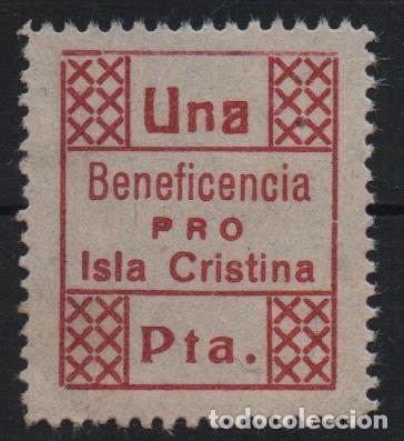 ISLA CRISTINA,-HUELVA-- 1 PTA, --BENEFICENCIA-- VER FOTO (Sellos - España - Guerra Civil - De 1.936 a 1.939 - Usados)