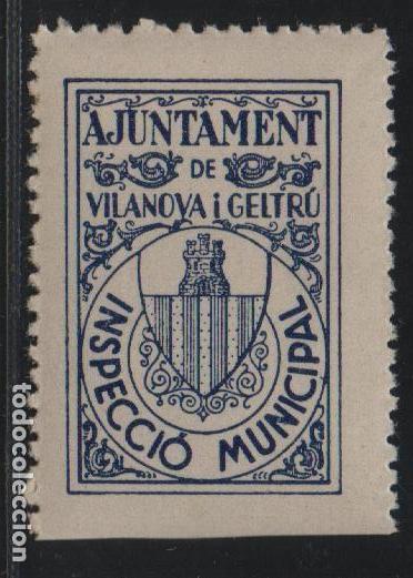 VILANOVA I LA GELTRU, INSPECCIO MINICIPAL,, VER FOTO (Sellos - España - Guerra Civil - De 1.936 a 1.939 - Usados)