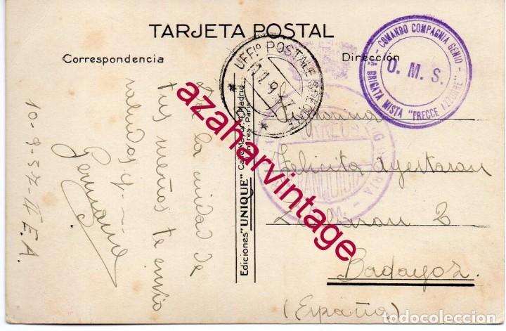 GUERRA CIVIL POSTAL CIRCULADA, MARCAS FLECHAS AZULES, PRIMER BATALLON LEGIONARIA, MUY RARA (Sellos - España - Guerra Civil - De 1.936 a 1.939 - Cartas)