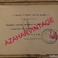 Sellos: GUERRA CIVIL. SOBRE CIRCULADO DE COGOLLUDOS A SEVILLA, 1937. CENSURA MILITAR DE JADRAQUE. Lote 169195784