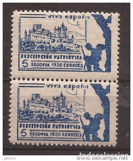 Sellos: 1936 SEGOVIA Suscripción patriótica - dentado 10 3/4 - 1 y 1a / 2a y 2b PAREJAS - Foto 4 - 169275500