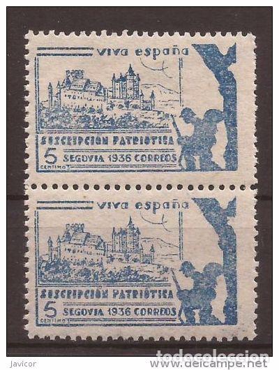 Sellos: 1936 SEGOVIA Suscripción patriótica - dentado 10 3/4 - 1 y 1a / 2a y 2b PAREJAS - Foto 5 - 169275500