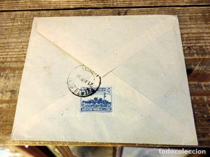 Sellos: PUERTO REAL, CADIZ, 1939, SOBRE CIRCULADO A SEVILLA, CENSURA MILITAR, SELLO LOCAL - Foto 2 - 169383364