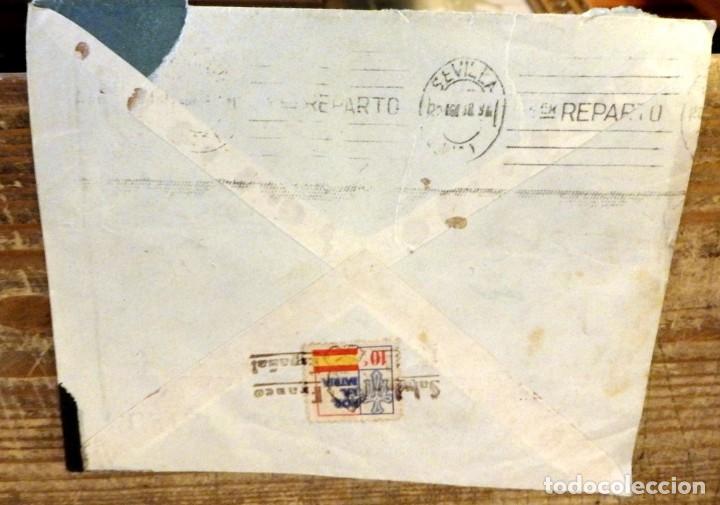 Sellos: POLA DE LAVIANA, ASTURIAS, 1938, SOBRE CIRCULADO A SEVILLA, CENSURA MILITAR - Foto 2 - 169492692