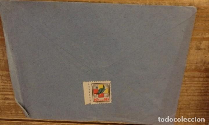 Sellos: ARIZA, ZARAGOZA, 1939, SOBRE CIRCULADO A SEVILLA, CENSURA MILITAR - Foto 2 - 169543036