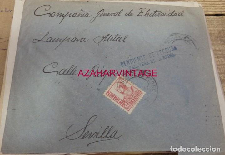 ARENAS DE SAN PEDRO, AVILA,1937, SOBRE CIRCULADO A SEVILLA, PENDIENTE CENSURA TALAVERA DE LA REINA (Sellos - España - Guerra Civil - De 1.936 a 1.939 - Cartas)