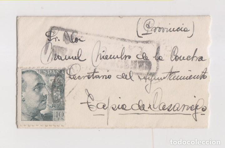 PEQUEÑO SOBRE CON TARJETA DE VISITA. CENSURA MILITAR LA FELGUERA. ASTURIAS. 1941 (Sellos - España - Guerra Civil - De 1.936 a 1.939 - Cartas)