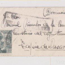 Sellos: PEQUEÑO SOBRE CON TARJETA DE VISITA. CENSURA MILITAR LA FELGUERA. ASTURIAS. 1941. Lote 169735728