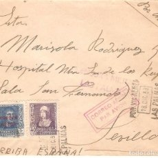 Sellos: GUERRA CIVIL, 1938, CIRCULADA DESDE CANARIAS A SEVILLA. Lote 169761016