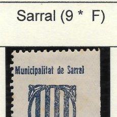 Sellos: GUERRA CIVIL. II REPUBLICA. TARRAGONA.VIÑETA SARRAL Nº 9.. Lote 169810676