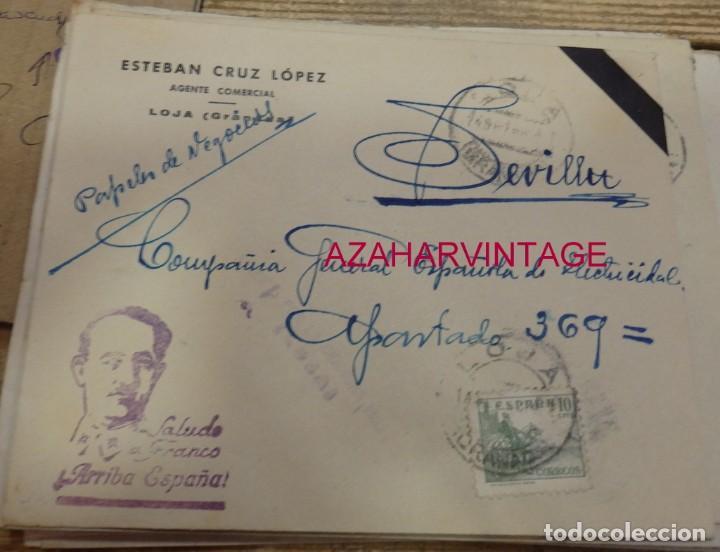 SOBRE CIRCULADO DESDE LOJA A SEVILLA, 1938, CENSURA MILITAR (Sellos - España - Guerra Civil - De 1.936 a 1.939 - Cartas)