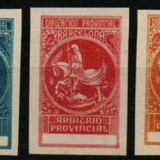 Sellos: DIP. PROV. DE BARCELONA ARBITRIO PROVINCIAL (5 PRUEBAS). Lote 170147233