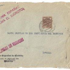 Sellos: FRONTAL DE ENERO DE 1937 CON SELLO FISCAL. Lote 170356116
