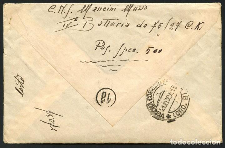 Sellos: GUERRA CIVIL, CARTA, EJÉRCITO ITALIANO EN ESPAÑA, UFFº POSTALE SPECIALE, 1938 - Foto 3 - 170388232