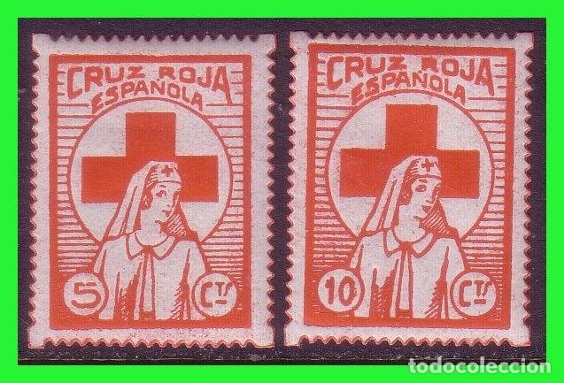CRUZ ROJA ESPAÑOLA, VIÑETAS REPUBLICANAS, GUILLAMON Nº 1660 Y 1661 * (Sellos - España - Guerra Civil - Viñetas - Nuevos)
