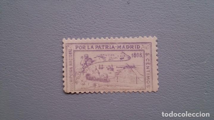 VIÑETA - 1898 - PRO PATRIA - MADRID - CON MOTIVO Y FINANCIACION DE LA GUERRA DE CUBA AÑO 1898. (Sellos - España - Guerra Civil - Viñetas - Nuevos)