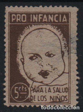 VIÑETA, 5 CTS, CASTAÑO, --PRO INFANCIA,. VER FOTO (Sellos - España - Guerra Civil - De 1.936 a 1.939 - Usados)