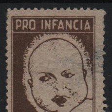 Sellos: VIÑETA, 5 CTS, CASTAÑO, --PRO INFANCIA,. VER FOTO. Lote 170986432