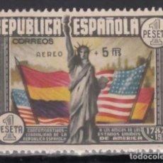 Sellos: ESPAÑA, 1938 EDIFIL Nº 765 /**/, ANIVERSARIO CONSTITUCIÓN AMERICANA. SIN FIJASELLOS. . Lote 171065004